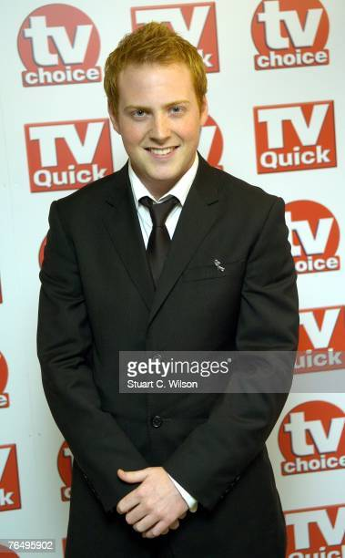 Actor Charlie Clements arrives for the TV Quick TV Choice awards at the Dorchester Hotel September 3 2007 in London England