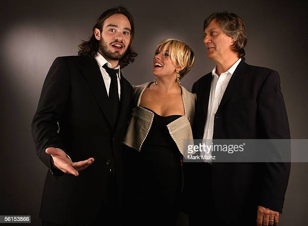 Actor Charlie Cox actress Sienna Miller and Director Lasse Hallstrom of the film 'Casanova' pose for a portrait during the AFI Fest 2005 presented by...