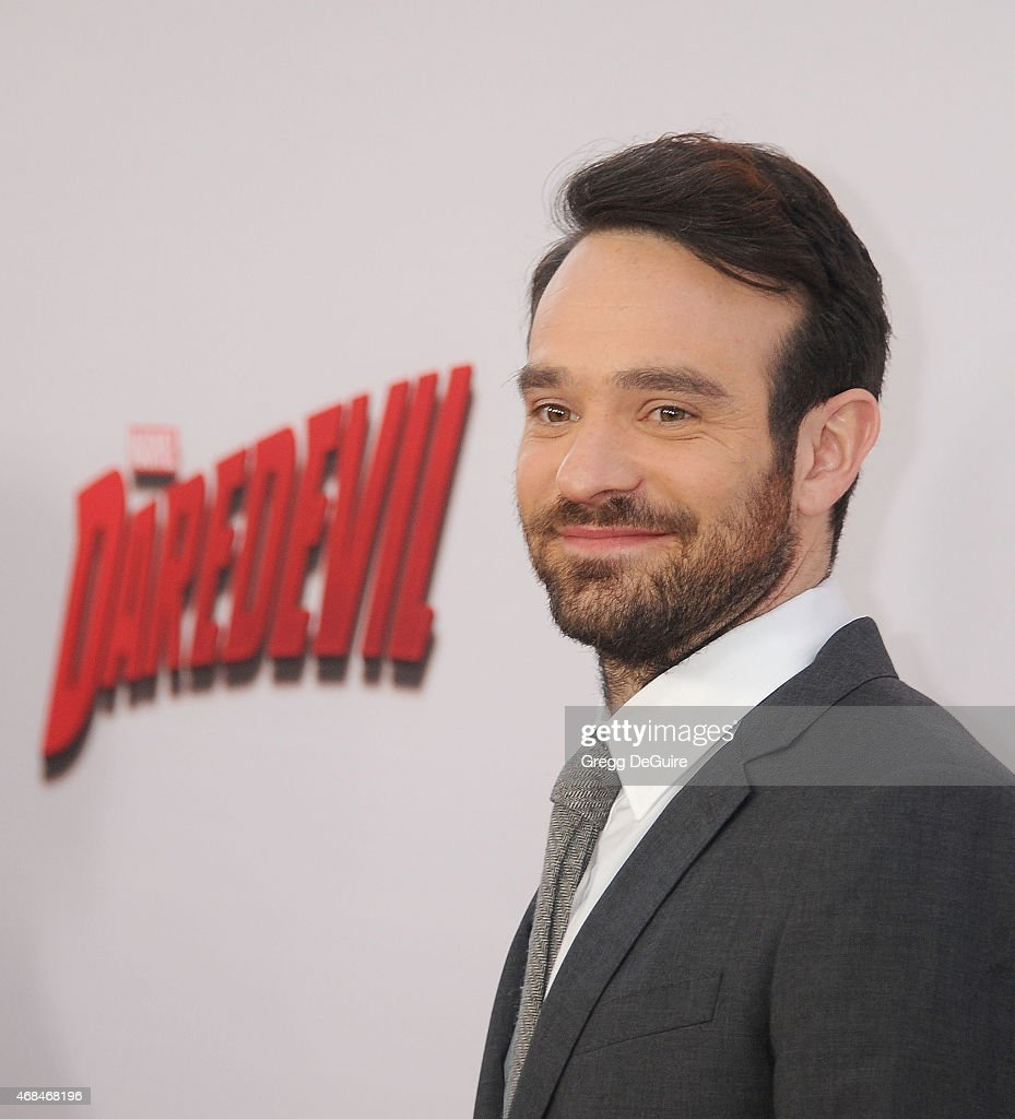 Actor Charlie Cox arrives at the premiere Of Netflix's 'Marvel's Daredevil' at Regal Cinemas L.A. Live on April 2, 2015 in Los Angeles, California.