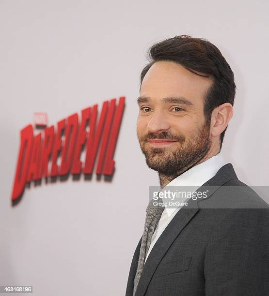 Actor Charlie Cox arrives at the premiere Of Netflix's Marvel's Daredevil at Regal Cinemas LA Live on April 2 2015 in Los Angeles California