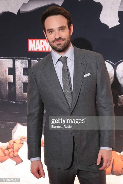 Actor Charlie Cox attends the Marvel's The Defenders New York premiere at Tribeca Performing Arts Center on July 31 2017 in New York City