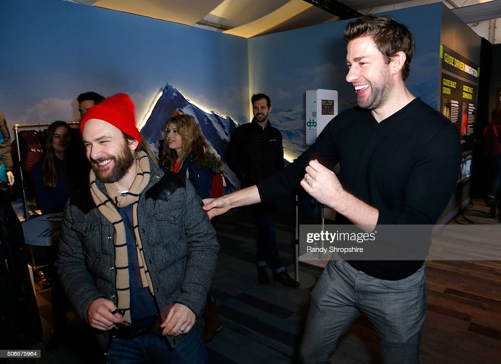 Actor Charlie Day (L) and director/actor John Krasinski attend the Eddie Bauer Adventure House during the 2016 Sundance Film Festival at Village at The Lift on January 24, 2016 in Park City, Utah.