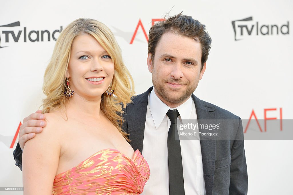 Actor Charlie Day (R) and Mary Elizabeth Ellis arrives at the 40th AFI Life Achievement Award honoring Shirley MacLaine held at Sony Pictures Studios on June 7, 2012 in Culver City, California. The AFI Life Achievement Award tribute to Shirley MacLaine will premiere on TV Land on Saturday, June 24 at 9PM