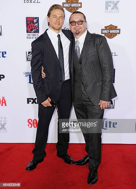 Actor Charlie Hunnam and creator Kurt Sutter arrive at FX's 'Sons Of Anarchy' Premiere at TCL Chinese Theatre on September 6 2014 in Hollywood...