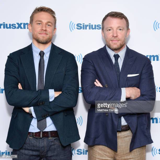 Actor Charlie Hunnam and director Guy Ritchie visit SiriusXM Studios on May 1 2017 in New York City