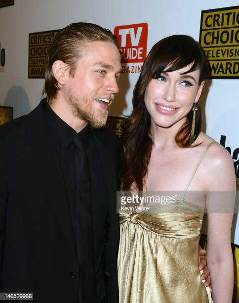 Actor Charlie Hunnam and guest arrive at Broadcast Television Journalists Association Second Annual Critics' Choice Awards at The Beverly Hilton...