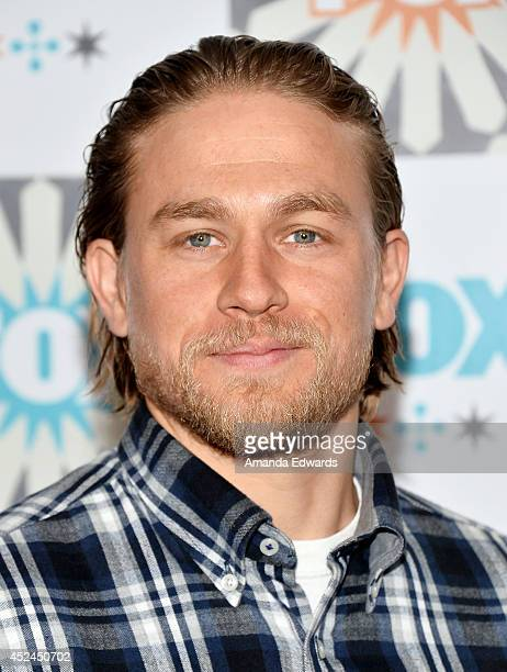 Actor Charlie Hunnam arrives at the 2014 Television Critics Association Summer Press Tour FOX AllStar Party at Soho House on July 20 2014 in West...