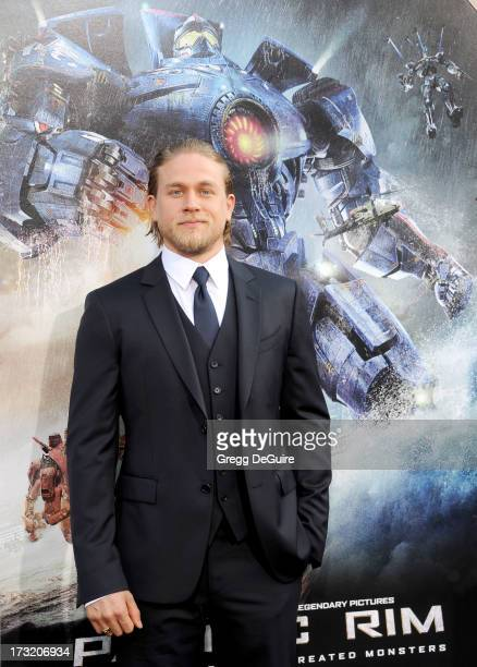 Actor Charlie Hunnam arrives at the Los Angeles premiere of 'Pacific Rim' at Dolby Theatre on July 9 2013 in Hollywood California