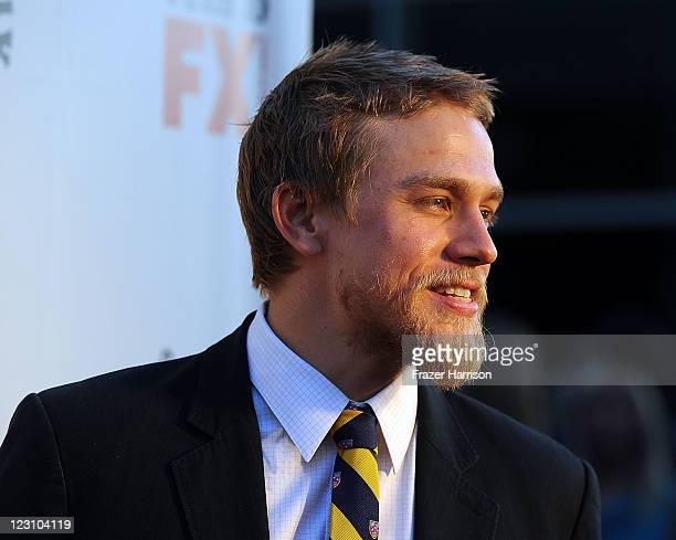 Actor Charlie Hunnam arrives at the Screening of FX's Sons Of Anarchy Season 4 Premiere at ArcLight Cinemas Cinerama Dome on August 30 2011 in...