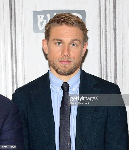 Actor Charlie Hunnam attends Build Presents The Cast Of King Arthur Legend Of The Sword at Build Studio on May 1 2017 in New York City