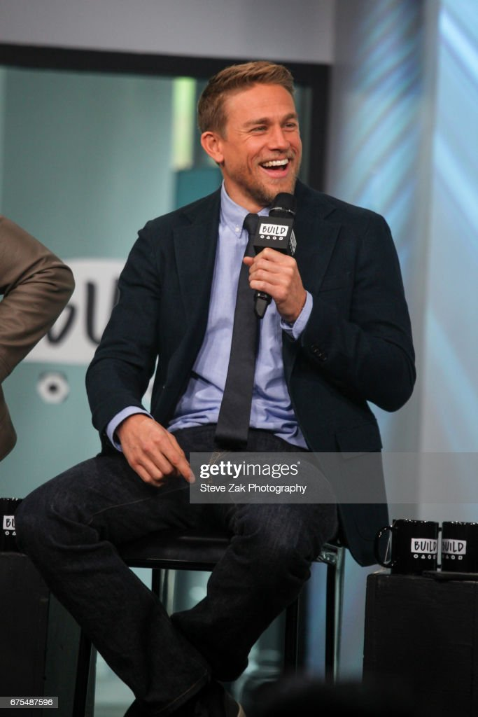 Actor Charlie Hunnam attends Build Series to discuss his new film 'King Arthur: Legend Of The Sword' at Build Studio on May 1, 2017 in New York City.