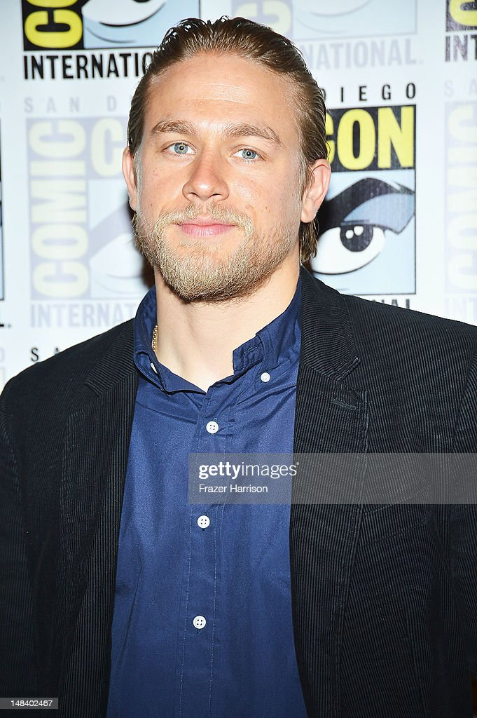 Actor Charlie Hunnam attends 'Sons of Anarchy' press line during Comic-Con International 2012 at Hilton San Diego Bayfront Hotel on July 15, 2012 in San Diego, California.