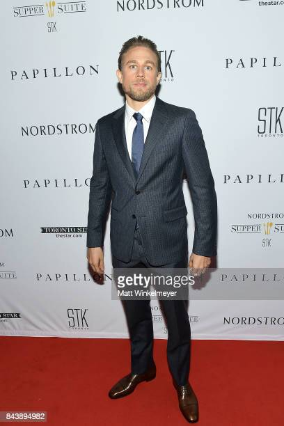 Actor Charlie Hunnam attends the Nordstrom Supper Suite 'Papillon' Official PrePremiere cocktail party at STK Toronto on September 7 2017 in Toronto...