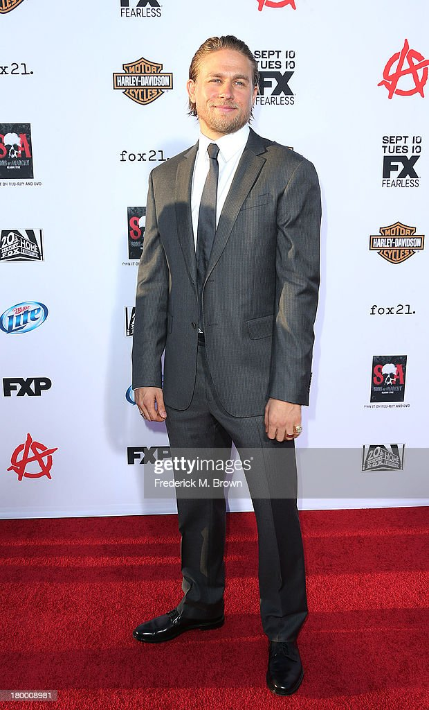 Actor Charlie Hunnam attends the Premiere of FX's 'Sons of Anarchy' Season 6 at the Dolby Theatre on September 7, 2013 in Hollywood, California.