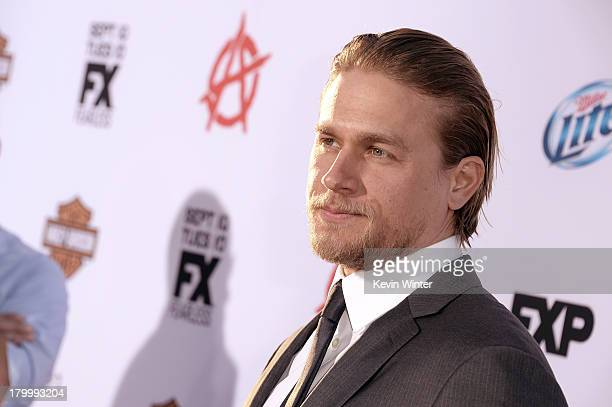 Actor Charlie Hunnam attends the season 6 premiere of FX's Sons Of Anarchy at Dolby Theatre on September 7 2013 in Hollywood California