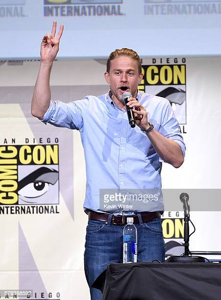 Actor Charlie Hunnam attends the Warner Bros Presentation during ComicCon International 2016 at San Diego Convention Center on July 23 2016 in San...
