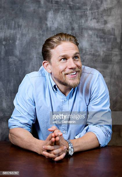 Actor Charlie Hunnam of 'King Arthur Legend of the Sword' is photographed for Los Angeles Times at San Diego Comic Con on July 22 2016 in San Diego...