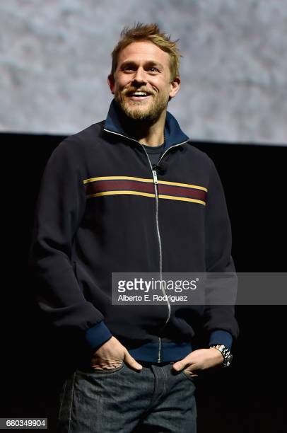 "Actor Charlie Hunnam onstage during CinemaCon 2017 Warner Bros. Pictures Invites You to ""The Big Picture,"" an Exclusive Presentation of our Upcoming..."