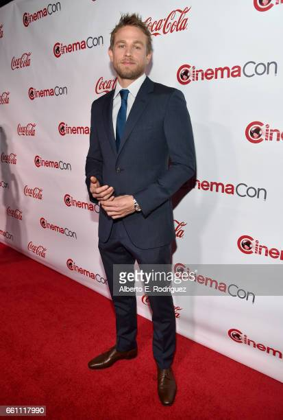 Actor Charlie Hunnam recipient of the Male Star of the Year Award attends the CinemaCon Big Screen Achievement Awards brought to you by the CocaCola...