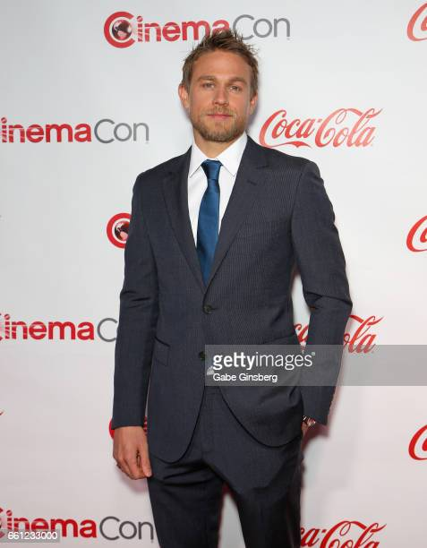 Actor Charlie Hunnam, recipient of the Male Star of the Year Award, , attends the CinemaCon Big Screen Achievement Awards at Omnia Nightclub at...