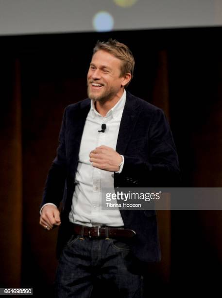 Actor Charlie Hunnam speaks during the final day luncheon and special program 'Amazon Studios Delivering the best in independent cinema' at The...