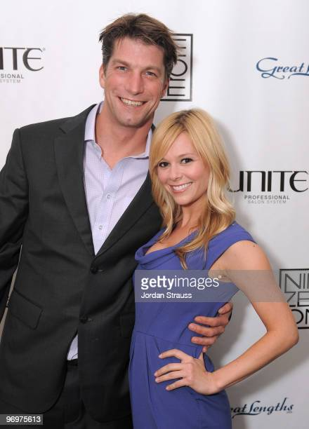Actor Charlie O'Connell and guest attend Nine Zero One Salon Grand Opening and Book Party at Nine Zero One Salon on February 22 2010 in West...