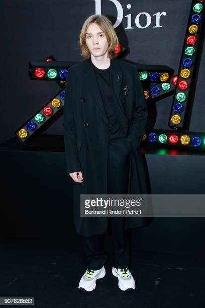 Actor Charlie Plummer attends the Dior Homme Menswear Fall/Winter 20182019 show as part of Paris Fashion Week on January 20 2018 in Paris France