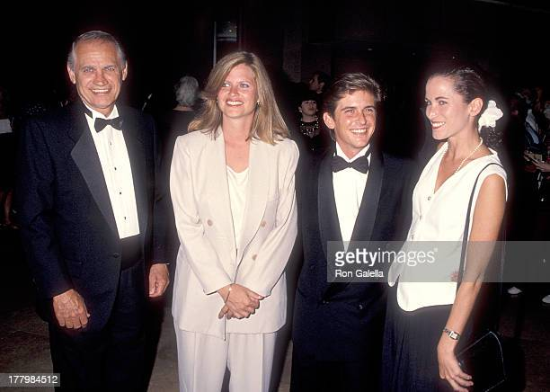 Actor Charlie Schlatter and girlfriend Colleen Gunderson and his parents attend the First Annual Comedy Hall of Fame Induction Ceremoy on August 29...