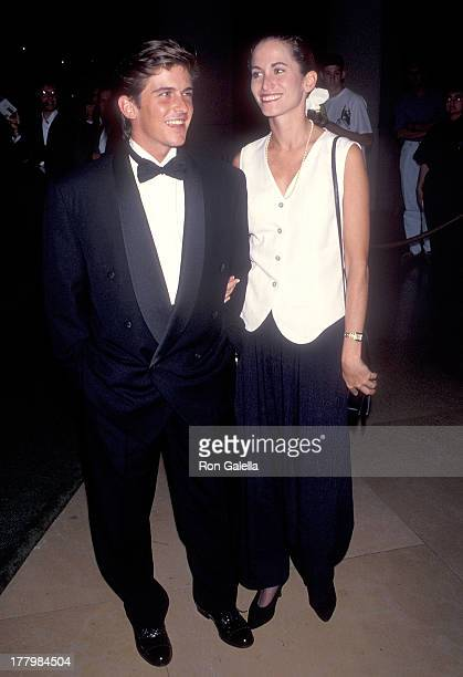 Actor Charlie Schlatter and girlfriend Colleen Gunderson attend the First Annual Comedy Hall of Fame Induction Ceremoy on August 29 1993 at the...