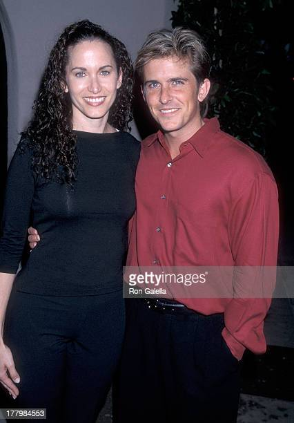 Actor Charlie Schlatter and wife Colleen Gunderson Schlatter attend the CBS Summer TCA Press Tour on July 24 1998 at the RitzCarlton Hotel in...