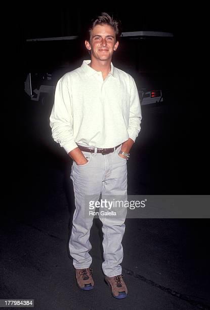Actor Charlie Schlatter attends David Gaines Honored as Los Angeles' Longest Running Phantom in The Phantom of the Opera on August 10 1992 at Warner...