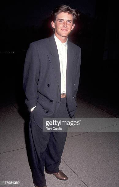 Actor Charlie Schlatter attends the 199293 FOX Primetime Program Presentation on May 26 1992 at the American Museum of Natural History in New York...