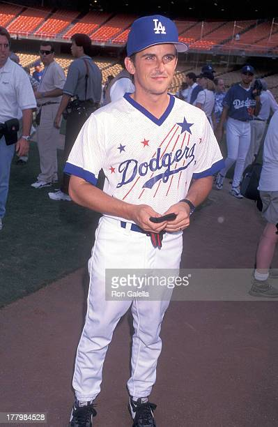Actor Charlie Schlatter attends the 38th Annual Hollywood Stars Night Celebrity Baseball Game on August 17 1996 at Dodger Stadium in Los Angeles...