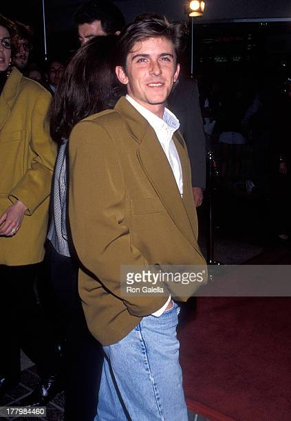 Actor Charlie Schlatter attends the Bodies Rest Motion Burbank Premiere on April 1 1993 at AMC Burbank 14 in Burbank California