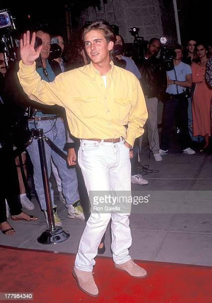 Actor Charlie Schlatter attends the Doc Hollywood Beverly Hills Premiere on July 31 1991 at the Samuel Goldwyn Theatre in Beverly Hills California