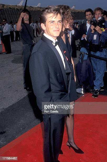 Actor Charlie Schlatter attends the First Annual American Television Awards on May 23 1993 at the Barker Hangar Santa Monica Air Center in Santa...