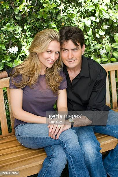 Actor Charlie Sheen and fiance Brooke Mueller are photographed for People Magazine on July 10, 2007 in Los Angeles, California. PUBLISHED IMAGE.