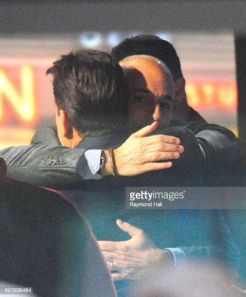 Actor Charlie Sheen and Matt Lauer seen at NBC's TODAY Show on November 17 2015 in New York City It was expected that Sheen would announce he is HIV...