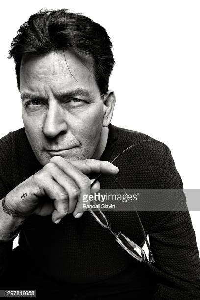 Actor Charlie Sheen poses for a portrait on March 18, 2019 in Los Angeles, California.