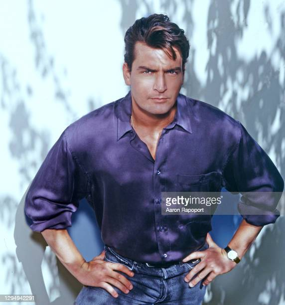 Actor Charlie Sheen poses in Los Angeles, California