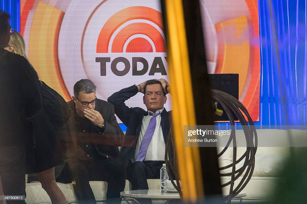 Actor Charlie Sheen Makes Announcement On Today Show During Interview With Matt Lauer : News Photo