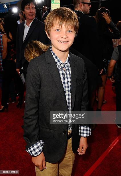 Actor Charlie Tahan arrives at the premiere of Universal Pictures' Charlie St Cloud held at the Regency Village Theatre on July 20 2010 in Westwood...
