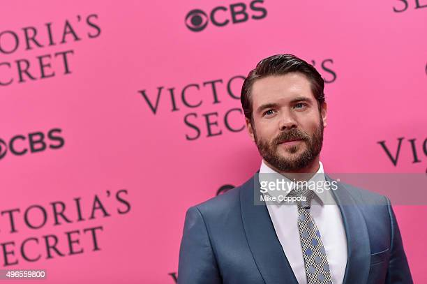 Actor Charlie Weber attends the 2015 Victoria's Secret Fashion Show at Lexington Avenue Armory on November 10 2015 in New York City