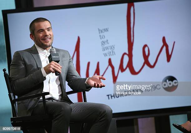 Actor Charlie Weber speaks at The Build Series Presents Charlie Weber Discussing The Show 'How To Get Away With Murder' at AOL HQ on September 23...