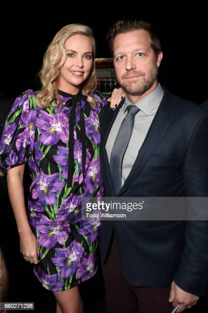 Actor Charlize Theron and director David Leitch at CinemaCon 2017 Universal Pictures Invites You to a Special Presentation Featuring Footage from its...