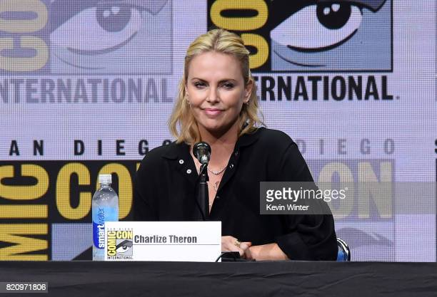 Actor Charlize Theron attends Entertainment Weekly's Women Who Kick Ass Icon Edition with Charlize Theron during ComicCon International 2017 at San...