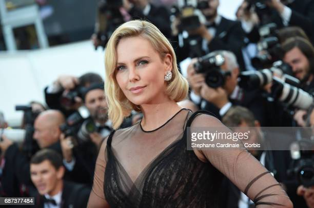 Actor Charlize Theron attends the 70th Anniversary of the 70th annual Cannes Film Festival at Palais des Festivals on May 23 2017 in Cannes France