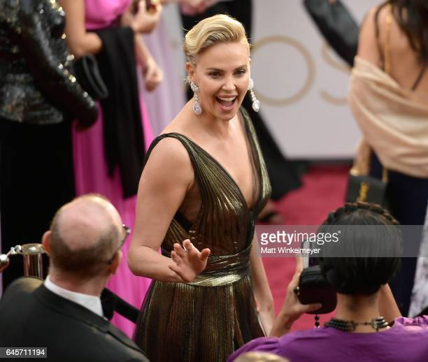 Actor Charlize Theron attends the 89th Annual Academy Awards at Hollywood Highland Center on February 26 2017 in Hollywood California