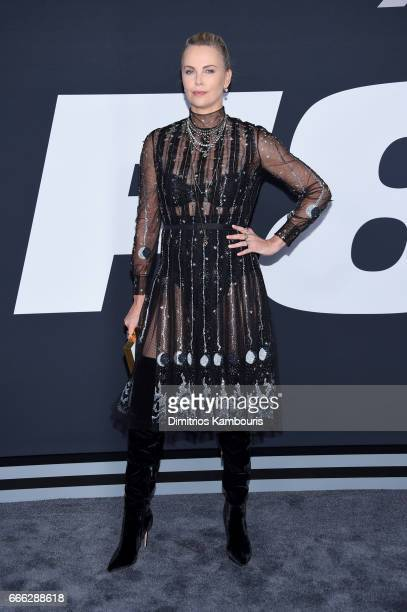 Actor Charlize Theron attends 'The Fate Of The Furious' New York Premiere at Radio City Music Hall on April 8 2017 in New York City