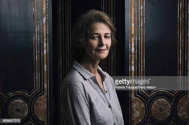 Actor Charlotte Rampling is photographed for Paris Match on January 6 2016 in Paris France